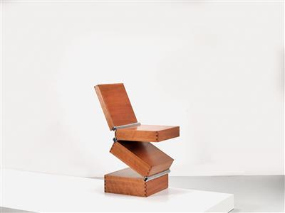 "A ""Box in Four Movements"" chair, designed by Ron Arad - Design First"