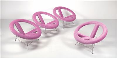 "A set of four ""Paradise Chairs"" from the ""Peace Chair"" project, Xaver Sedelmeier - Design First"
