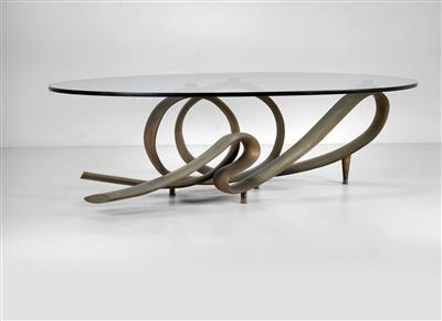 "A unique ""Nastro"" (""Ribbon"") couch table, designed by Giacomo Manzù - Design First"