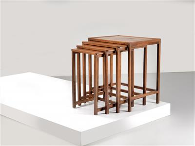 A set of nesting tables, designed by Josef Hoffmann - Design First