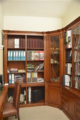 Gr. Bibliotheks-Einbauschrank mit Kamin in klassizist. Stil, - MY HOME IS <br>MY CASTLE - <br>Classic English Interiors <br>Sale!!!