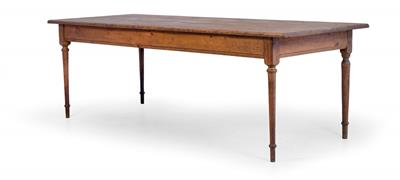 Large provincial table in refectory style, - Rustic Furniture