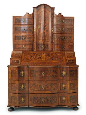 Baroque tabernacle bureau cabinet, - Furniture