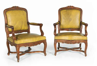 Pair of armchairs, - Furniture