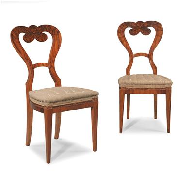 Pair of Biedermeier chairs, - Furniture and Decorative Art