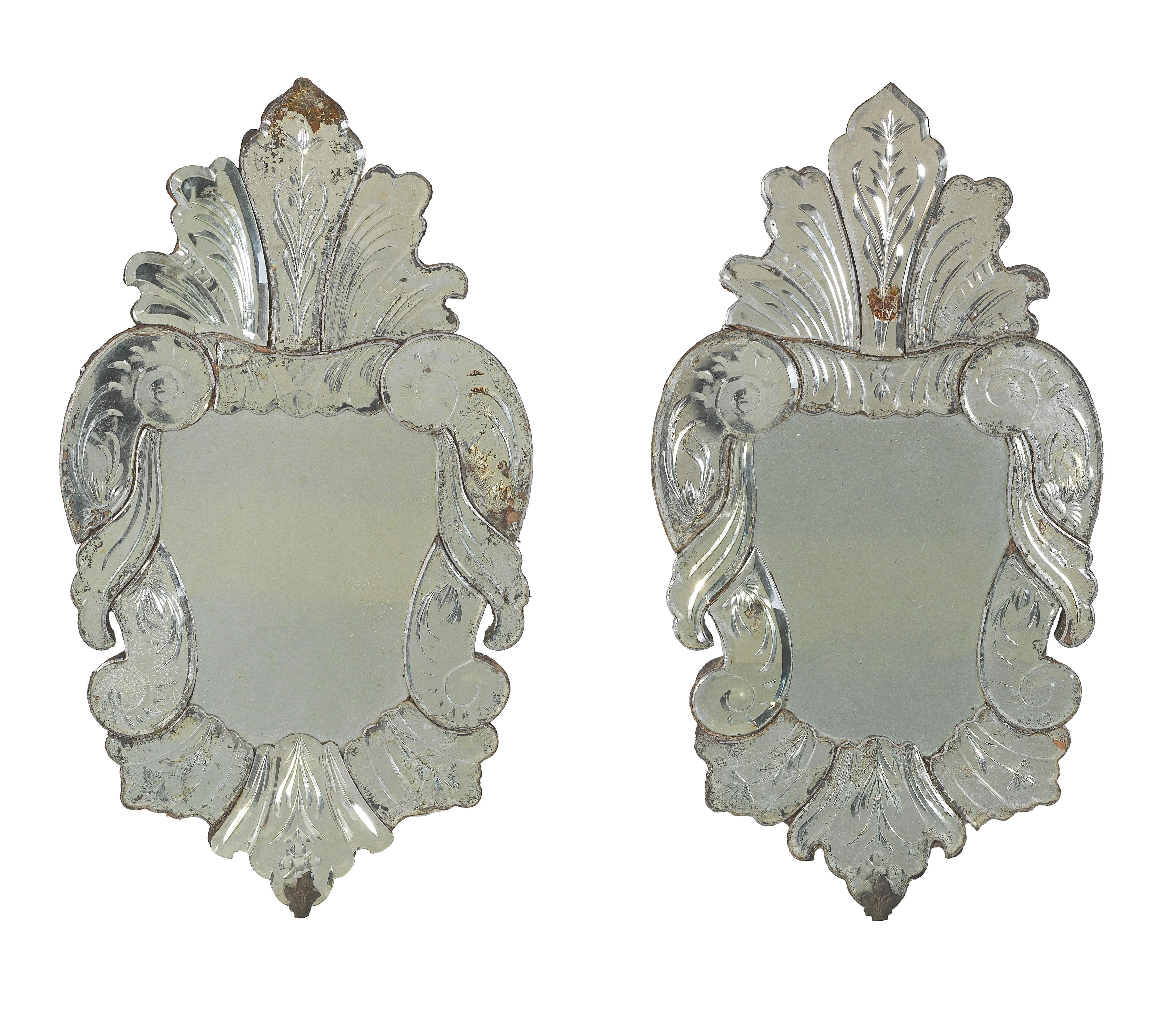 A Pair Of Small Wall Mirrors In Venetian Style Property From Aristocratic Estates And Important Provenance 2019 01 28 Realized Price Eur 625 Dorotheum