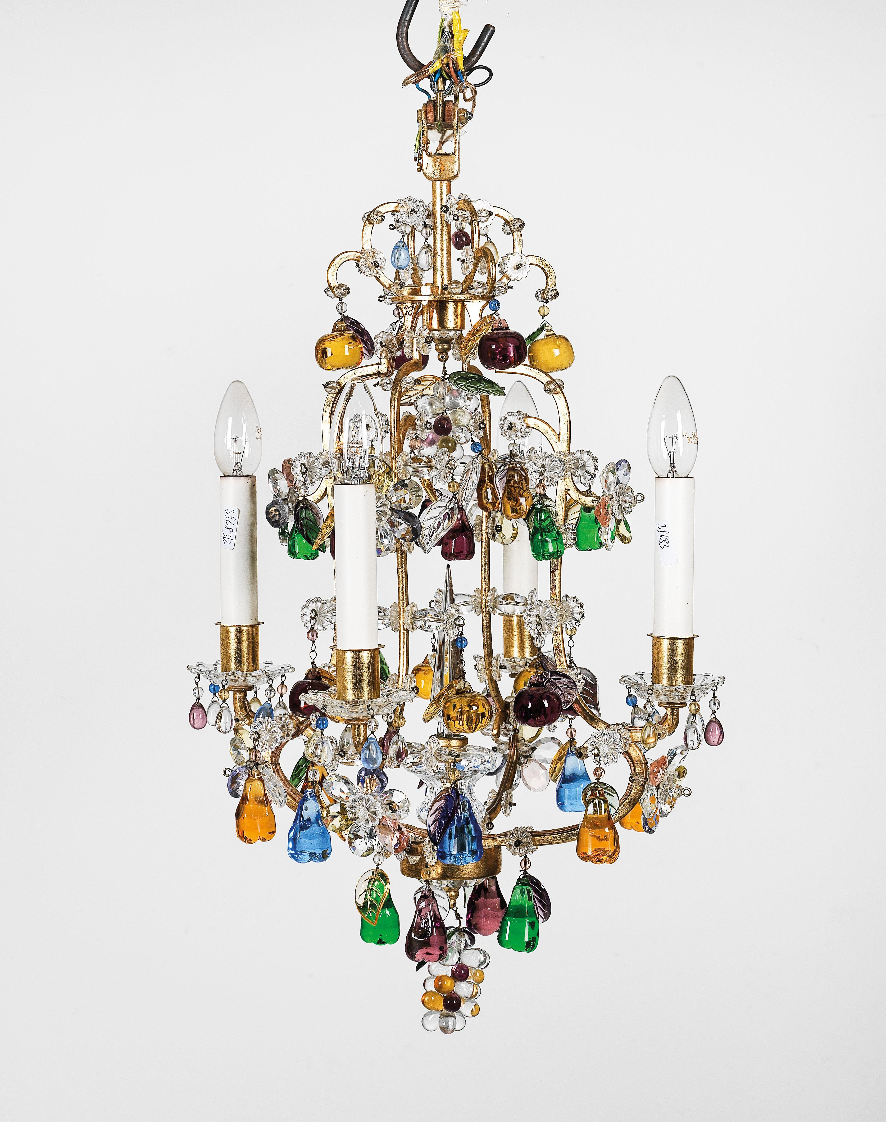 A Small Glass Chandelier Furniture And Decorative Art 2019 09 23 Realized Price Eur 1 280 Dorotheum