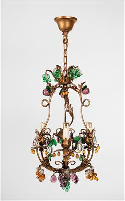 A small metal chandelier, - Furniture and Decorative Art