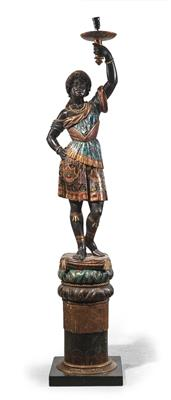 A figural lamp from Venice, - Mobili e arti decorative