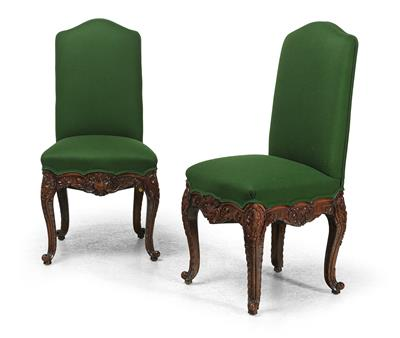 A Pair of Chairs in Baroque Style, - Furniture and Decorative Art