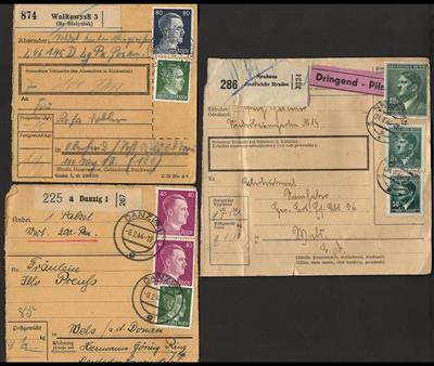 Poststück - Reichh. tls. verschied. Paketkarten