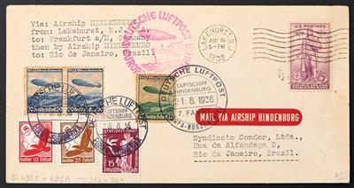 Zepp Poststück Usa 1936 Hindenburg Stamps 20180503