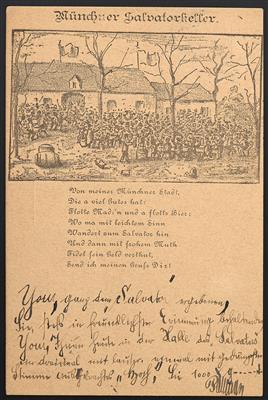 Ansichtskarten Poststück - 1884