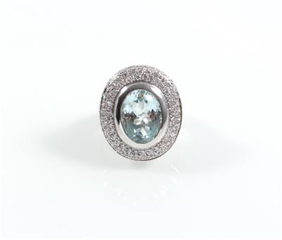 Brillant Aquamarinring - Jewellery