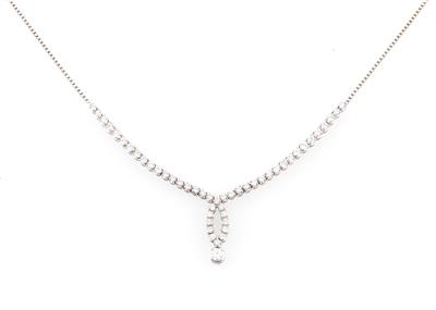 Brillant Collier zus. ca. 1,80 ct - Exquisite jewellery