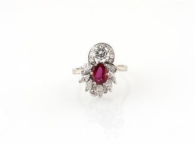 Diamant Rubinring