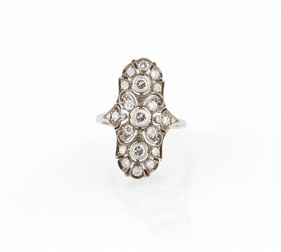 Brillantring zus. ca. 0,95 ct
