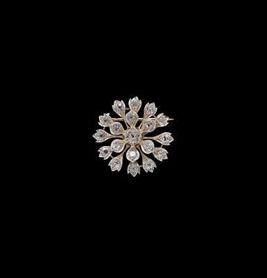 Diamantbrosche zus. ca.5,50 ct