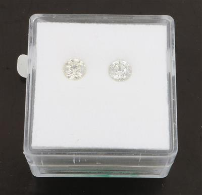 2 lose Brillanten zus.0,60 ct J-L/si-p1 - Diamonds Only