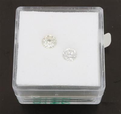 2 lose Brillanten zus.0,72 ct I-K/si-p1 - Diamonds Only