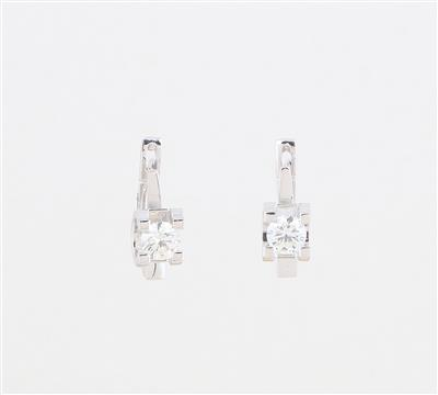 Brillant Ohrringe zus. ca. 0,60 ct - Klenoty