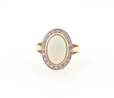 Brillant Opal Ring - Schmuck
