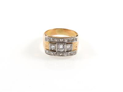 Diamantdamenring zus. ca. 0,80 ct - Jewellery