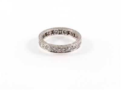 Diamantmemoryring zus. ca. 0,50 ct - Klenoty