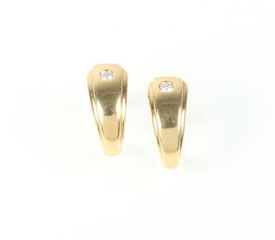 Brillantohrstecker zus. ca. 0,15 ct - Jewellery