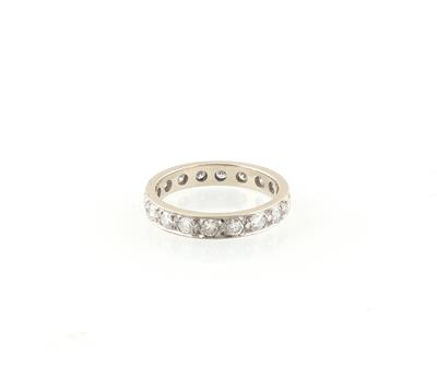 Brillant Memoryring zus. ca. 0,90 ct - Jewellery