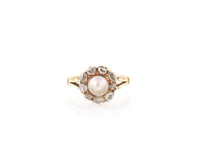 Diamant Kulturperlen Ring