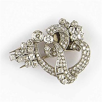 Diamantclip zus. ca. 3,20 ct - Schmuck