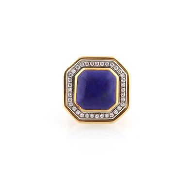 Brillant Lapislazuli Ring - Klenoty