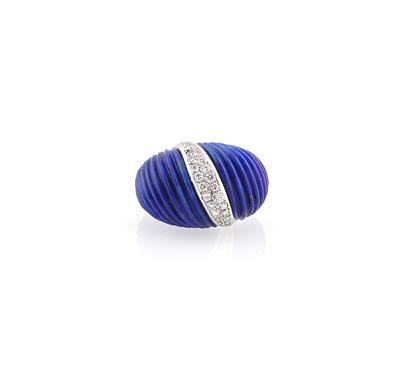 Brillant Lapislazuli Ring - Schmuck