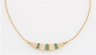 Smaragd Diamantcollier