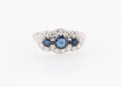 Brillant Saphir Ring - Schmuck