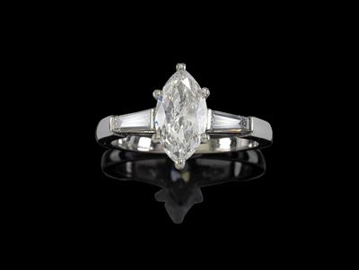 A diamond ring total weight c. 1.30 ct - Klenoty