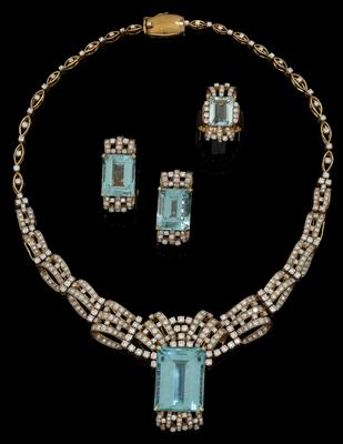 A brilliant and aquamarine parure - Klenoty