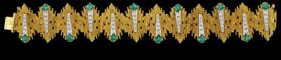 A brilliant and emerald bracelet - Jewellery