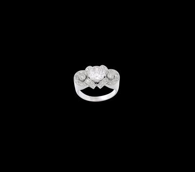 A diamond ring, total weight c. 1.80 ct - Jewellery