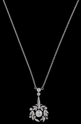 An old-cut diamond necklace, total weight c. 0.90 ct - Jewellery