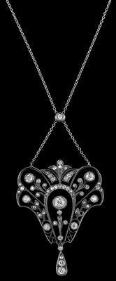 A diamond necklace total weight c. 1.50 ct - Jewellery