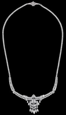 A diamond necklace total weight c. 7.10 ct - Gioielli