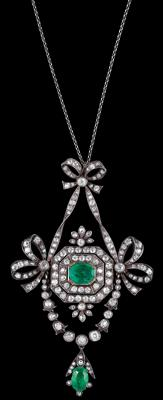 A diamond and emerald necklace by Rozet & Fischmeister - Klenoty