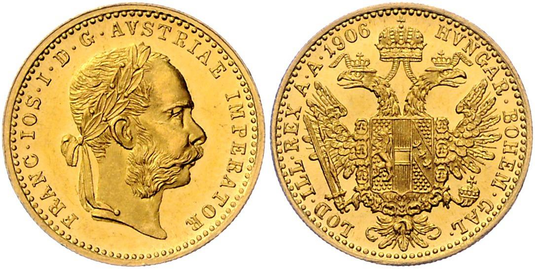 Franz Josef I GOLD - Coins 2019/05/22 - Realized price: EUR 280