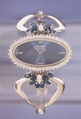 Marietta Brillant/Diamant/ Saphir Damenarmbanduhr