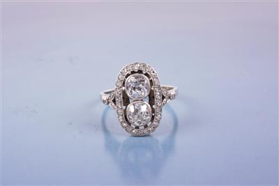 Brillant/Diamant Damenring zus. ca. 1,90 ct