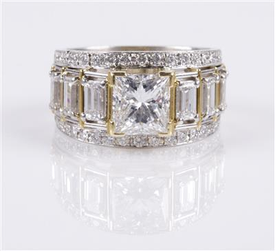 Brillant Diamantring zus. 4,46 ct