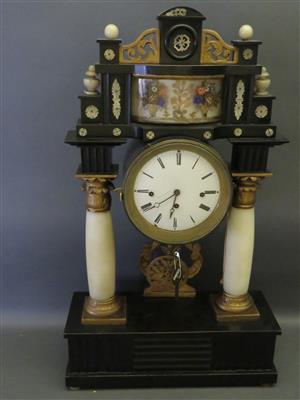 Biedermeier-Kommodenuhr um 1830/40 - Antiques, art and jewellery