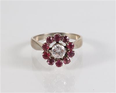 Brillant Rubin Ring